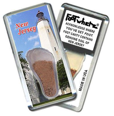 New Jersey FootWhere® Souvenir Magnet. Made in USA-FootWhere® Souvenirs