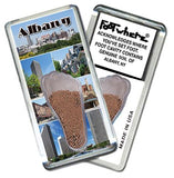 Albany, NY FootWhere® Souvenir Fridge Magnets. 6 Piece Set. Made in USA - FootWhere® Souvenirs