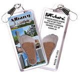 Albany, NY FootWhere® Souvenir Zipper-Pulls. 6 Piece Set. Made in USA-FootWhere® Souvenirs