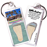 Anguilla FootWhere® Souvenir Keychain. Made in USA - FootWhere® Souvenirs