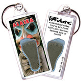 Alaska FootWhere® Souvenir Keychains. 6 Piece Set. Made in USA-FootWhere® Souvenirs