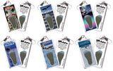 Alaska FootWhere® Souvenir Zipper-Pulls. 6 Piece Set. Made in USA-FootWhere® Souvenirs