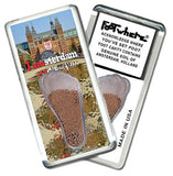 Amsterdam FootWhere® Souvenir Fridge Magnet. Made in USA-FootWhere® Souvenirs