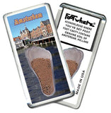 Amsterdam FootWhere® Souvenir Fridge Magnets. 6 Piece Set. Made in USA-FootWhere® Souvenirs