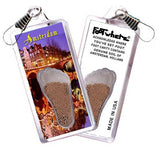 Amsterdam FootWhere® Souvenir Zipper-Pull. Made in USA-FootWhere® Souvenirs