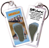 Amarillo FootWhere® Souvenir Keychain. Made in USA - FootWhere® Souvenirs