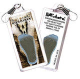 Amarillo FootWhere® Souvenir Zipper-Pull. Made in USA - FootWhere® Souvenirs