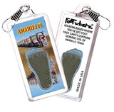 Amarillo FootWhere® Souvenir Zipper-Pull. Made in USA-FootWhere® Souvenirs