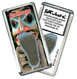 Anchorage FootWhere® Souvenir Fridge Magnet. Made in USA-FootWhere® Souvenirs
