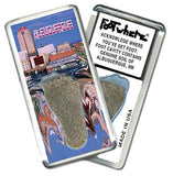 Albuquerque FootWhere® Souvenir Fridge Magnet. Made in USA-FootWhere® Souvenirs