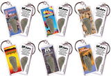Albuquerque FootWhere® Souvenir Keychains. 6 Piece Set. Made in USA-FootWhere® Souvenirs