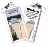 Aruba FootWhere® Souvenir Zipper-Pulls. 6 Piece Set. Made in USA-FootWhere® Souvenirs