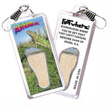 Aruba, N.A. FootWhere® Souvenir Zipper-Pull. Made in USA-FootWhere® Souvenirs