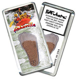 Asheville, NC FootWhere® Souvenir Magnet. Made in USA-FootWhere® Souvenirs