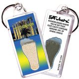 Athens, Greece FootWhere® Souvenir Keychains. 6 Piece Set. Made in USA - FootWhere® Souvenirs