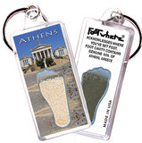 Athens, Greece FootWhere® Souvenir Keychains. 6 Piece Set. Made in USA-FootWhere® Souvenirs