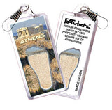 Athens, Greece FootWhere® Souvenir Zipper-Pull. Made in USA-FootWhere® Souvenirs