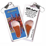 Atlanta FootWhere® Souvenir Zipper-Pull. Made in USA-FootWhere® Souvenirs