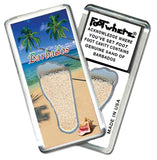 Barbados FootWhere® Souvenir Magnet. Made in USA-FootWhere® Souvenirs