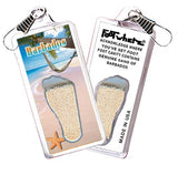 Barbados FootWhere® Souvenir Zipper-Pull. Made in USA-FootWhere® Souvenirs