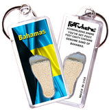 Bahamas FootWhere® Souvenir Keychains. 6 Piece Set. Made in USA-FootWhere® Souvenirs