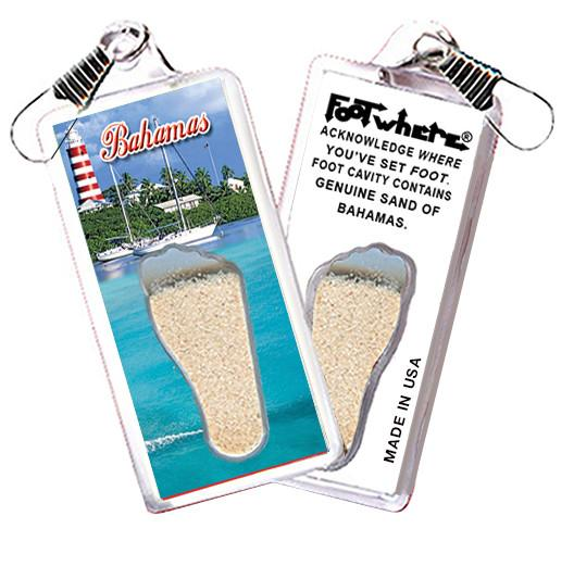 Bahamas FootWhere® Souvenir Lanyard. Made in USA-FootWhere® Souvenirs