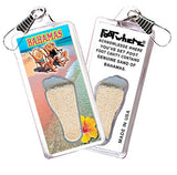 Bahamas FootWhere® Souvenir Zipper-Pulls. 6 Piece Set. Made in USA-FootWhere® Souvenirs