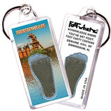 Birmingham, AL FootWhere® Souvenir Key Chain. Made in USA-FootWhere® Souvenirs