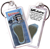 Baltimore FootWhere® Souvenir Keychain. Made in USA-FootWhere® Souvenirs
