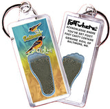 Baltimore FootWhere® Souvenir Keychains. 6 Piece Set. Made in USA-FootWhere® Souvenirs