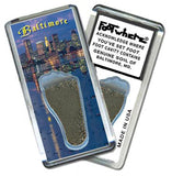 Baltimore FootWhere® Souvenir Magnet. Made in USA - FootWhere® Souvenirs