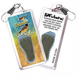 Baltimore FootWhere® Souvenir Zipper-Pull. Made in USA-FootWhere® Souvenirs