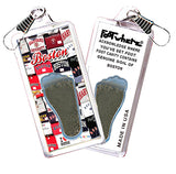 Boston FootWhere® Souvenir Zipper-Pulls. 6 Piece Set. Made in USA-FootWhere® Souvenirs