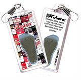 Boston FootWhere® Souvenir Zipper-Pull. Made in USA - FootWhere® Souvenirs