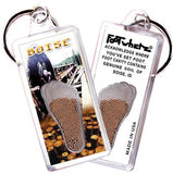 Boise FootWhere® Souvenir Key Chain. Made in USA-FootWhere® Souvenirs