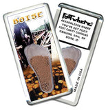 Boise FootWhere® Souvenir Fridge Magnet. Made in USA-FootWhere® Souvenirs