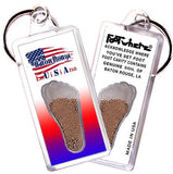 Baton Rouge, LA FootWhere® Souvenir Keychain. Made in USA-FootWhere® Souvenirs
