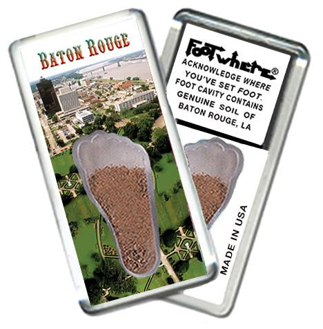 Baton Rouge, LA FootWhere® Souvenir Fridge Magnet. Made in USA - FootWhere® Souvenirs