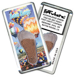Baton Rouge FootWhere® Souvenir Fridge Magnets. 6 Piece Set. Made in USA - FootWhere® Souvenirs