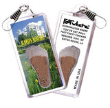 Baton Rouge FootWhere® Souvenir Zipper-Pull. Made in USA-FootWhere® Souvenirs