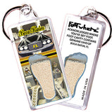 Boca Raton FootWhere® Souvenir Keychains. 6 Piece Set. Made in USA-FootWhere® Souvenirs