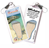 Bermuda FootWhere® Souvenir Zipper-Pulls. 6 Piece Set. Made in USA - FootWhere® Souvenirs