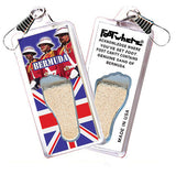 Bermuda FootWhere® Souvenir Zipper-Pulls. 6 Piece Set. Made in USA-FootWhere® Souvenirs