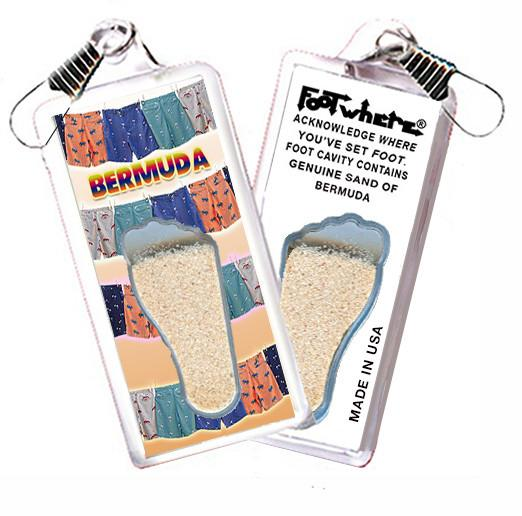 Bermuda FootWhere® Souvenir Zipper-Pull. Made in USA-FootWhere® Souvenirs