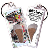 Branson FootWhere® Souvenir Keychain. Made in USA-FootWhere® Souvenirs