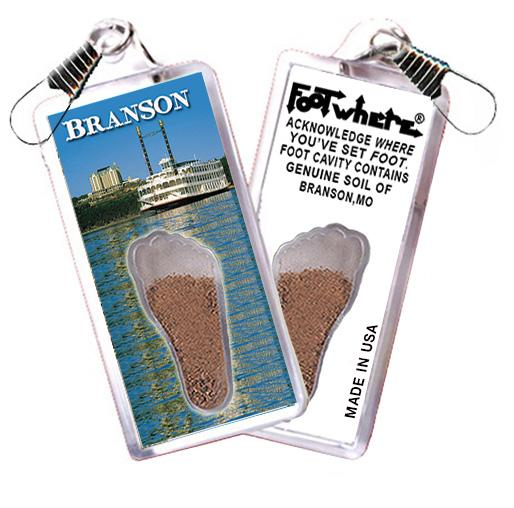 Branson FootWhere® Souvenir Zipper-Pull. Made in USA - FootWhere® Souvenirs