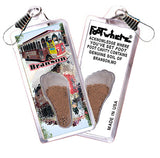 Branson FootWhere® Souvenir Zipper-Pulls. 6 Piece Set. Made in USA-FootWhere® Souvenirs