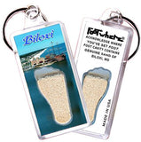 Biloxi, MS FootWhere® Souvenir Keychain. Made in USA - FootWhere® Souvenirs
