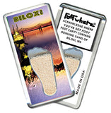 Biloxi FootWhere® Souvenir Fridge Magnets. 6 Piece Set. Made in USA-FootWhere® Souvenirs