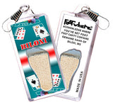 Biloxi FootWhere® Souvenir Zipper-Pulls. 6 Piece Set. Made in USA-FootWhere® Souvenirs